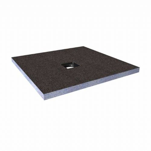 Abacus Elements Square Standard Shower Tray 40mm High With Centre Drain - 1000mm x 1000mm